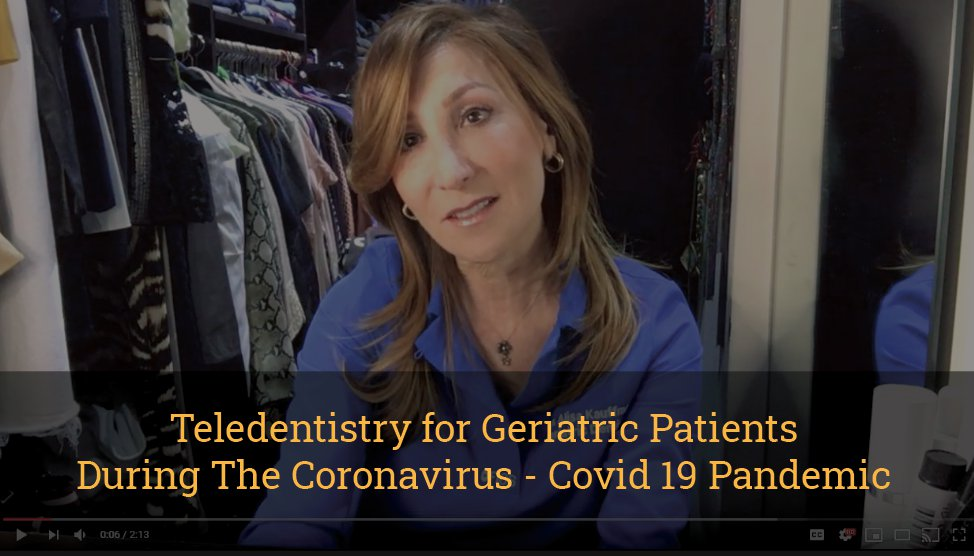 Teledentistry for Geriatric Patients During the Coronavirus Covid 19 Pandemic