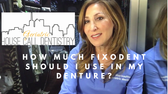 how much fixodent in denture