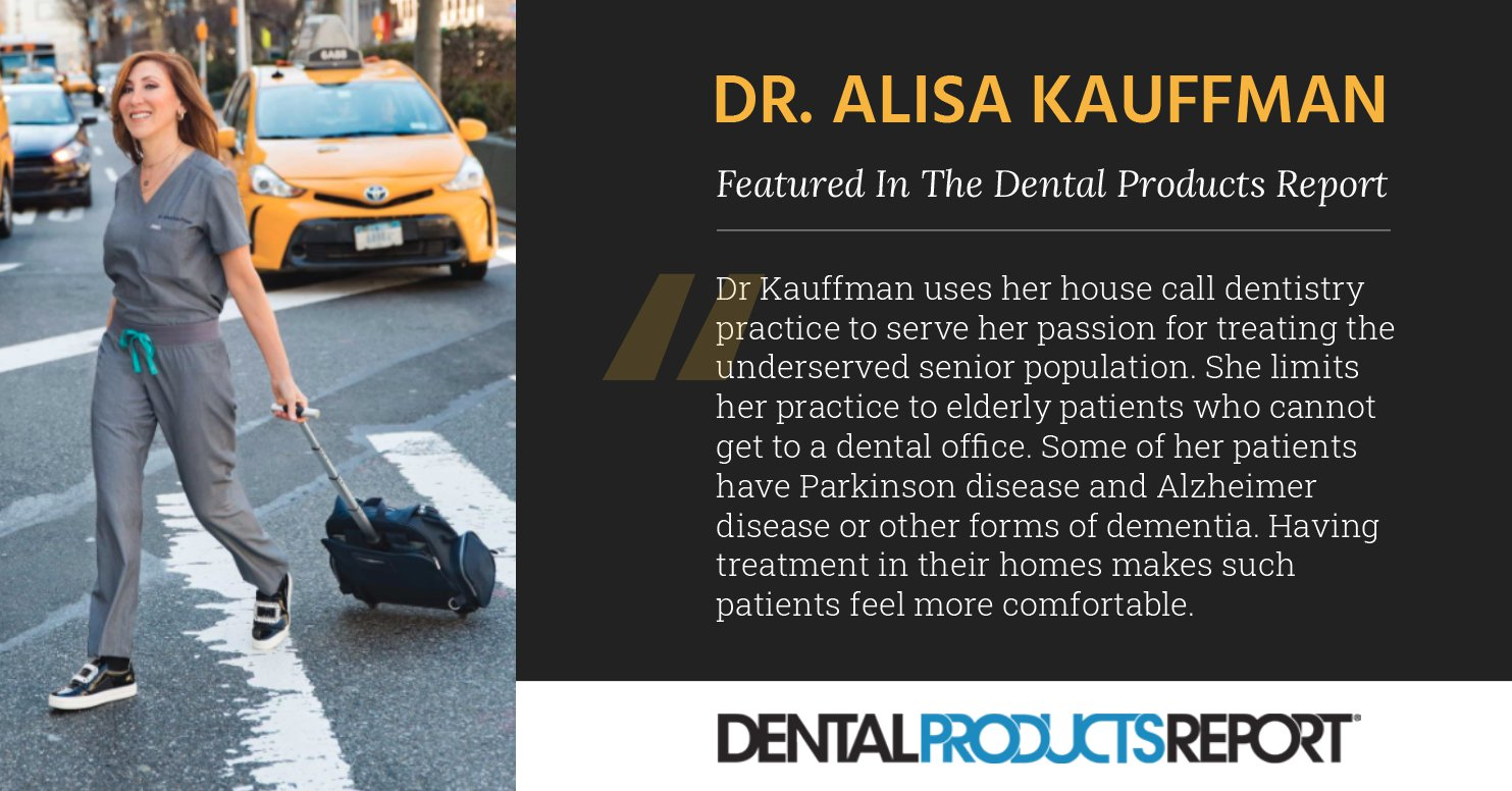 Dr. Alisa Kauffman featured in the Dental Products Report